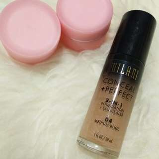 Milani Foundation + Concealer 04 medium beige ORIGINAL [Share in jar]