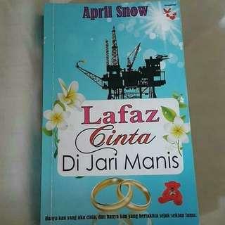 Novel Lafaz Cinta Di Jari Manis karya April Snow