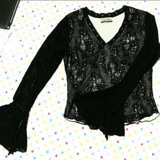 Bohemian Lace Top Bell Sleeves