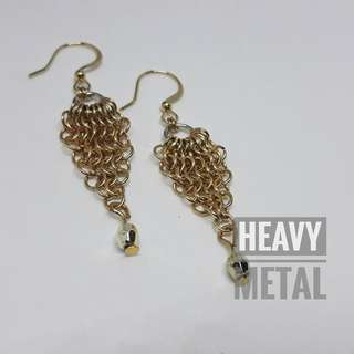 Handcrafted chain mail earrings