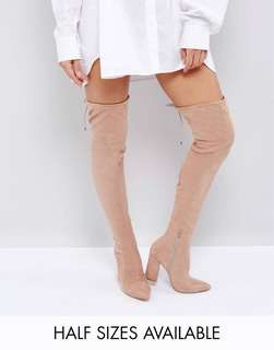 ASOS pointed over the knee boots