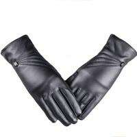 Womens Leather Cashmere gloves