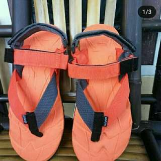 Sandal Gunung Suzuran Extreme x Mr1 Orange w Orange Dark Grey