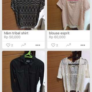flash sale! 120rb dapat 3! h&m,next,colorbox,tomtailor,etc