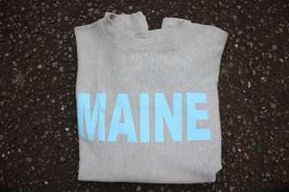 "CREWNECK CHAMPION ""MAINE"" GREY"