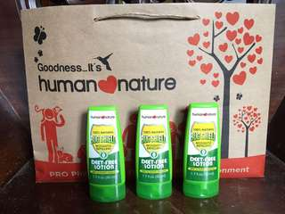 Human nature bug shield lotion