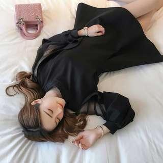 2018 新春女裝燈籠袖露背連衣裙顯瘦 (~XL)
