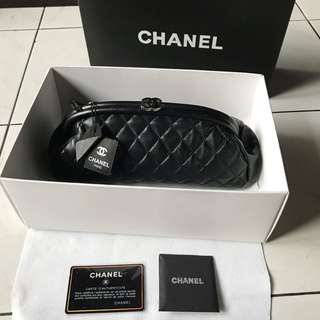 Chanel timeless clutch.