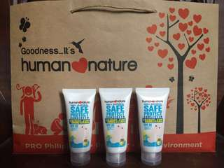Human nature sunscreen for babies and kids