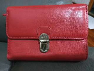 Agnes b wallet red