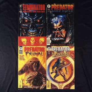 Dark Horse TERMINATOR / PREDATOR  [Lot of 4]