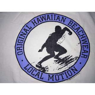VINTAGE OLDCOTTON LOCALMOTION HAWAII 1987 SHIRT