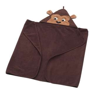 [IKEA] DJUNGLESKOG Towel with hood, monkey, brown