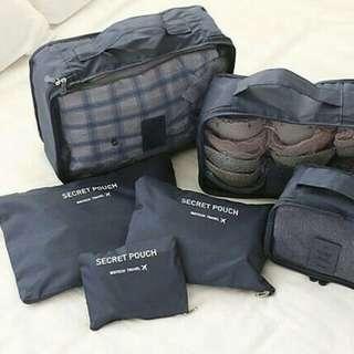TRAVELING BAG ORGANIZER (1 SET = 6 pcs)