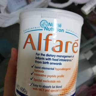 Alfare milk powder