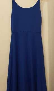 Royal blue class dress