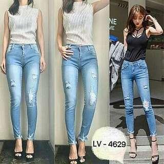 Celana jeans wanita punny jeans ripped jeans punny 4629 jeans sobek