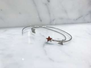Star and arrow bracelet