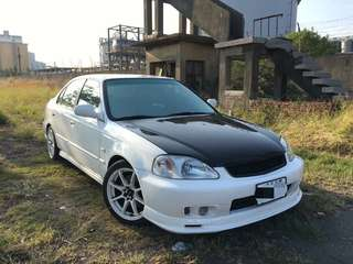 售2000年Honda k8 碳纖維引擎蓋.三環錶.小包圍.鋁圈. 引擎變速箱冷氣正常