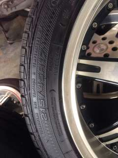 Rim 17 inch with tyre