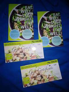 Fitness Gourmet Gift Certificate s
