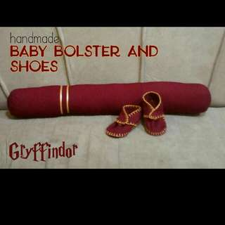 Gryffindor Themed Bolster and Shoes