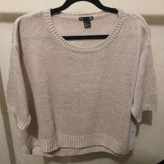 H&M Knitted Semi Cropped Top