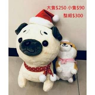 聖誕狗 #超便宜出售大小娃娃 #現貨#全新#超低價