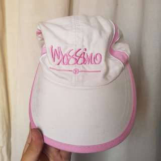Pink and White Cap