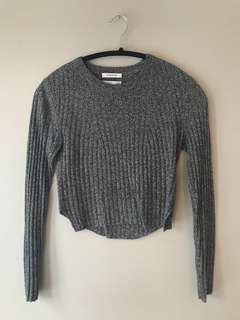 Babaton Nathaniel sweater — size XS in colour heathered black/grey