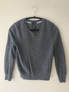 Talula cashmere sweater - size S in dark heathered grey