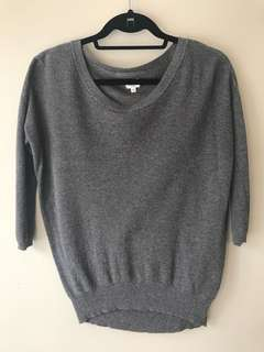 Wilfred silk and cashmere sweater— size XXS in grey