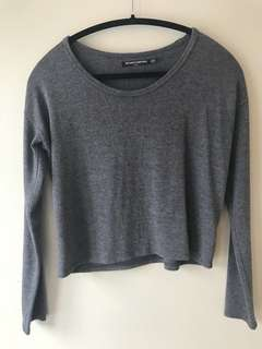 Brandy Melville cropped sweater— O/S in grey