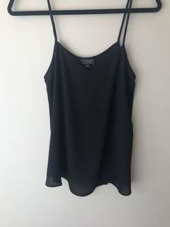 Topshop tank — size US 2 in black