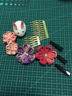 Tailor-made Japanese Hair Clip/Kimono