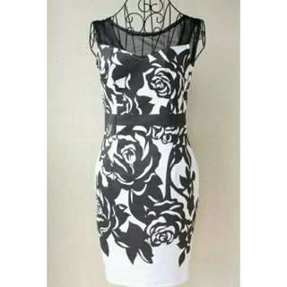 Full Floral Bodycon Dress 👚