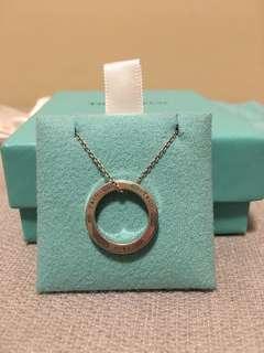 Tifanny & Co. necklace 1837 circle pendant