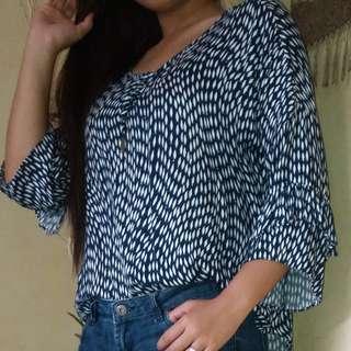 Cottony, comfy blouse
