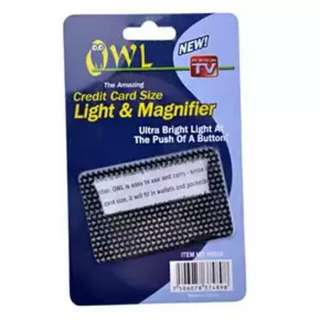 Owl Light And Magnifier
