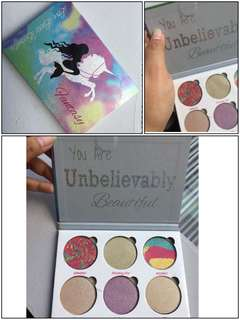 Fantasy Love Lux Beauty Eyeshadow Palette Mermaid Unicorn