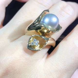 已售 sold 🇯🇵💎南洋海水灰珍珠戒指 時尚有款 sea pearl ring nice design