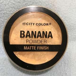 CITY COLOR BANANA POWDER MATTE FINISH DUPE BEN NYE / SETTING POWDER ORI PRELOVED