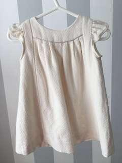 Zara baby girls' beige dress