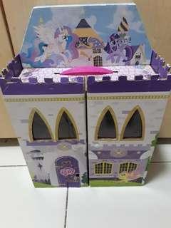 My little pony cardboard castle