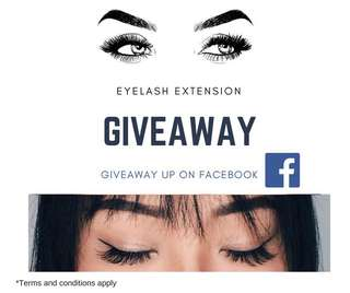 GIVEAWAY EYELASH EXTENSION