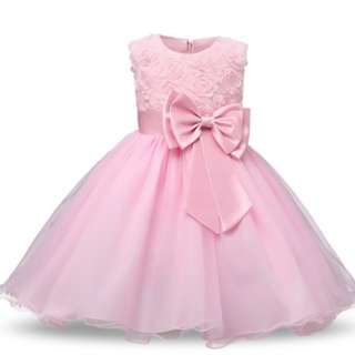 Princess Flower Girl Dress Summer  Tutu Wedding Birthday Party Dresses For Girls Childrens Costu