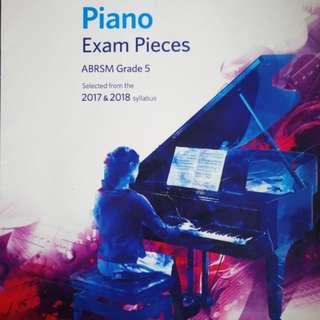 Abrsm piano exam pieces grade 5 --2017-1018