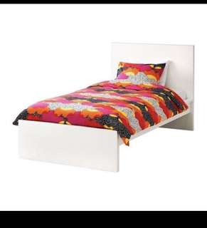 White ikea twin bed