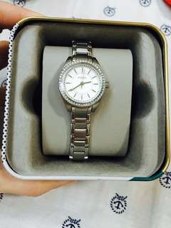 FOSSIL Silver Studded Watch Authentic