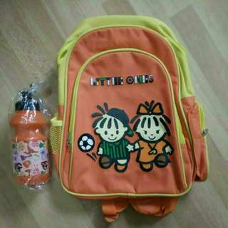 Toddler Bag And Water Bottle